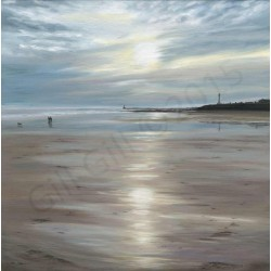 Dog Walkers on a Winter's Morning,  Seaburn