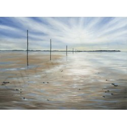 Out Going Tide Lindisfarne by Gill Gill