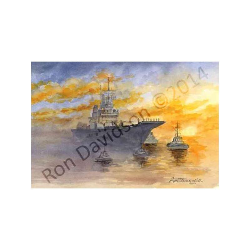 H.M.S Ark Royal by Ron Davidson
