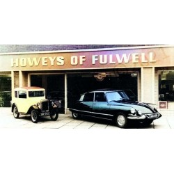 Howeys of Fulwell Old Citroen DS - Colourised