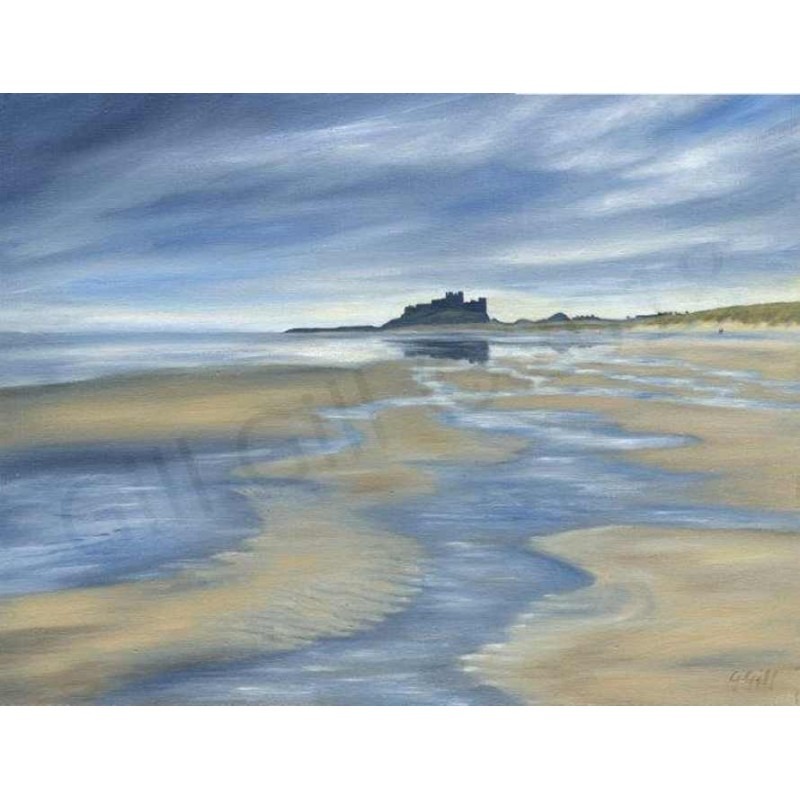 Incoming Tide Bamburgh by Gill Gill