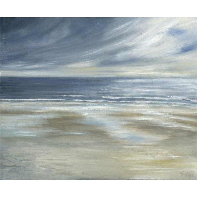 Blustery Day on the Northumberland Coast by Gill Gill
