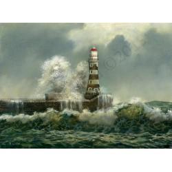Big Wave Crashing Down by Robert Wild