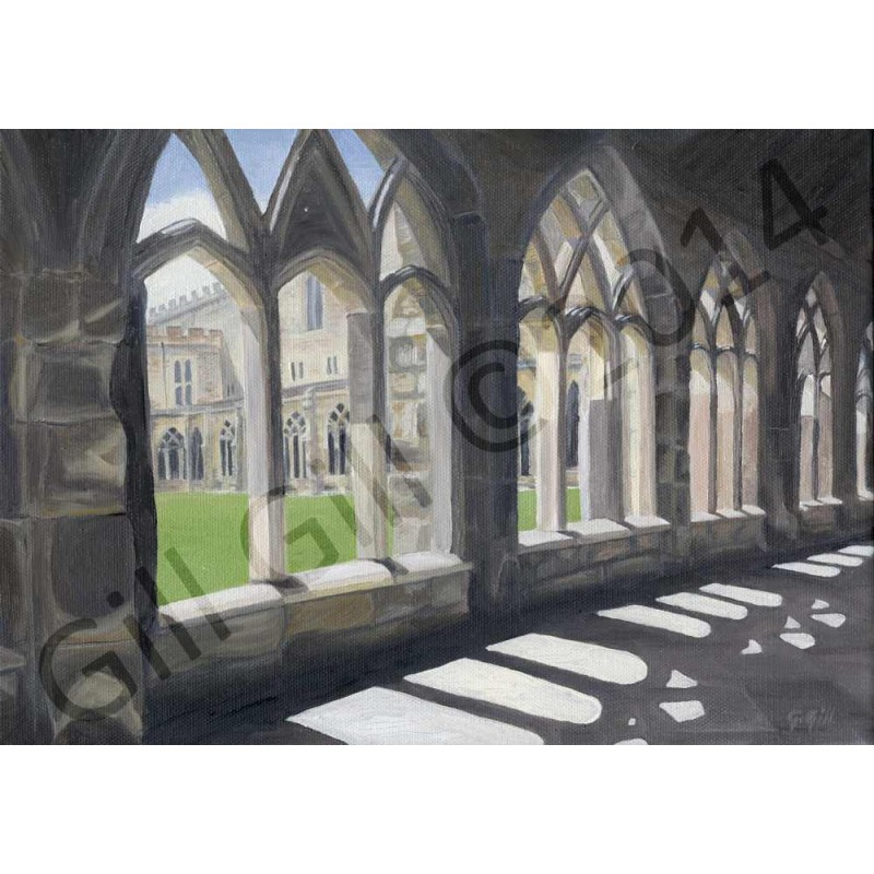 Durham Cathedral Cloisters by Gill Gill