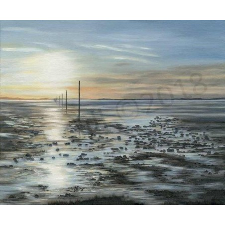 Winter's light Lindisfarne by Gill Gill
