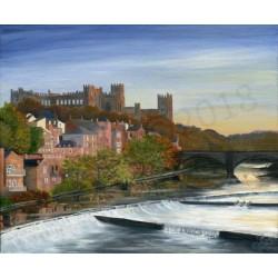 Summer Riverside Durham by Gill Gill