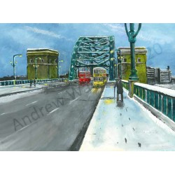 Fresh Snow Tyne Bridge by Andrew Waller