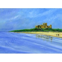 Reflections of Bamburgh by Andrew Waller