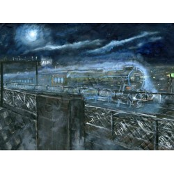 Ghost Train King Edward Bridge by Andrew Waller