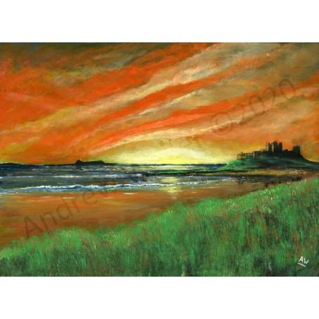 Bamburgh & Inner Farne Sunrise by Andrew Waller