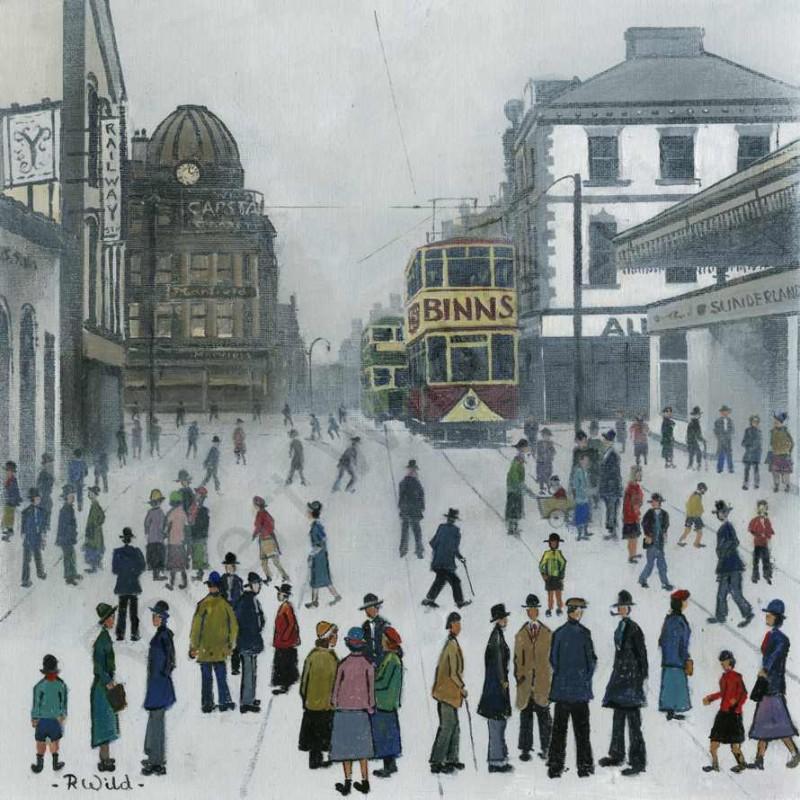 Binns Tram Sunderland 1920's by Robert Wild