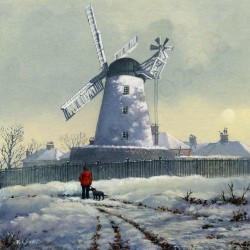 Fulwell Mill in the Snow by Robert Wild