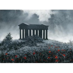 Penshaw Monument B/W by Robert Wild