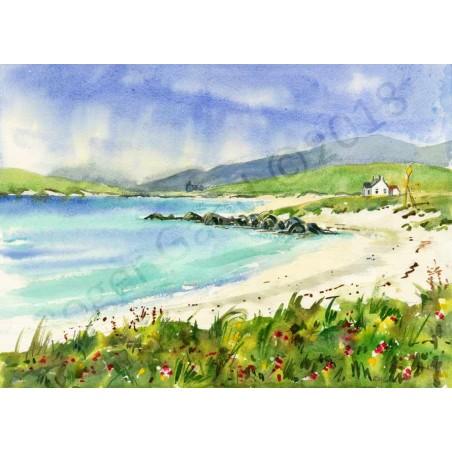 Alison's Beach  Barra by Roger Gadd